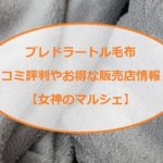 プレドラートル毛布の口コミ評判や価格は?肌触りや洗濯は?「女神のマルシェ」