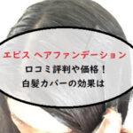 エビス ヘアファンデーション単品の口コミ評判や価格!白髪カバーの効果は【いいものプレミアム】