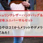 シュリンクレザーハンドバッグ&財布ユニバーサルセットの口コミや収納力!メリットやデメリットは?